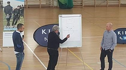Michał Kośmider i Mariusz Głowacki na szkoleniu z taktyki